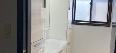 施工事例:洗面化粧台の交換 大牟田市
