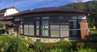 福岡トーヨー 大牟田店の広縁の木製雨戸のリフォームの施工前の写真1
