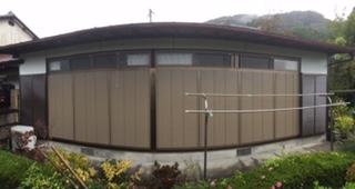 福岡トーヨー 大牟田店の広縁の木製雨戸のリフォームの施工事例写真