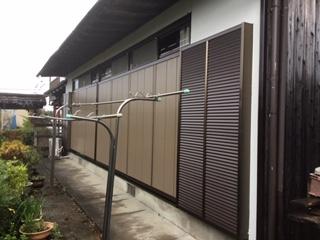 福岡トーヨー 大牟田店の広縁の木製雨戸のリフォームの施工後の写真1