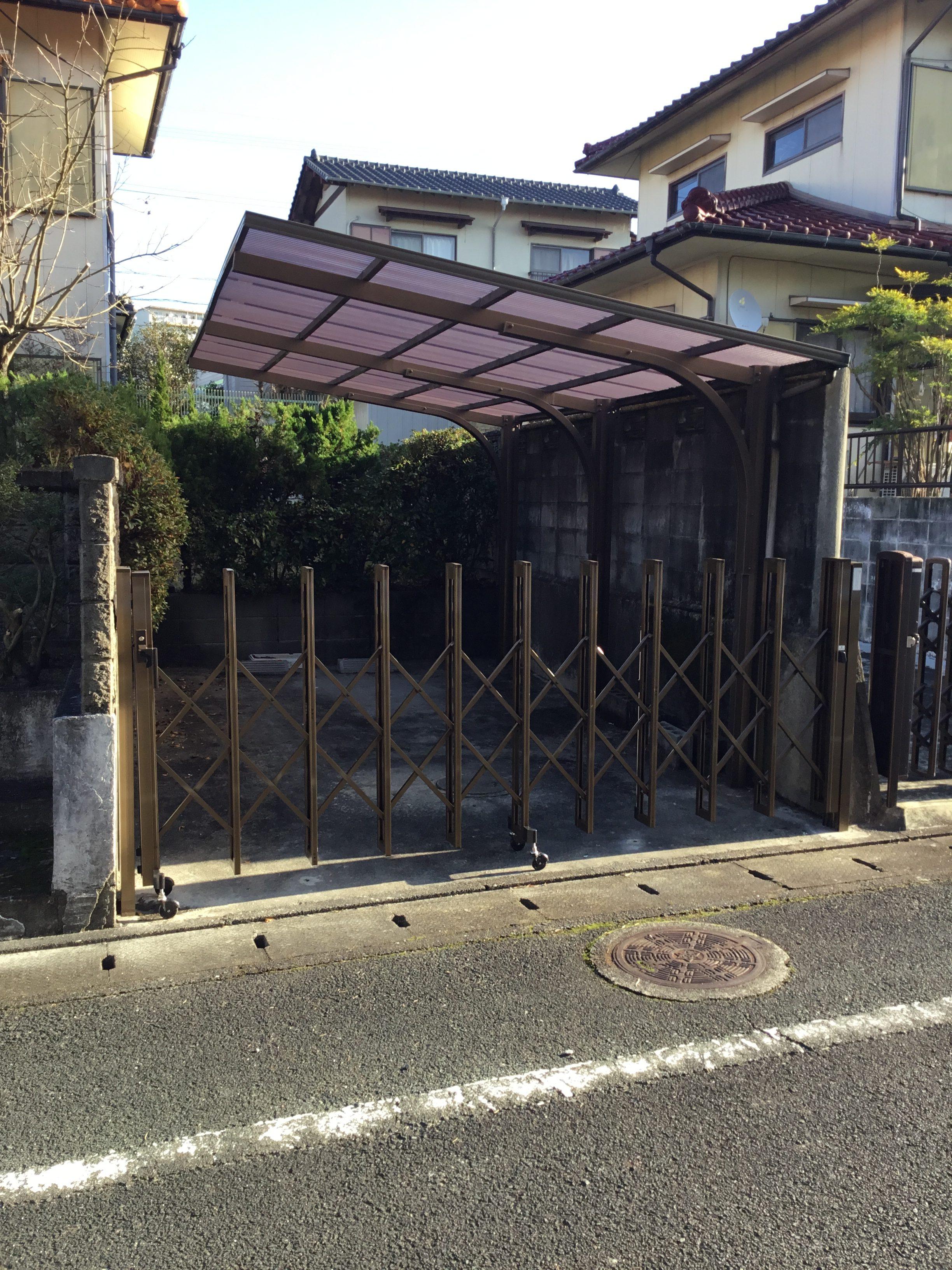 福岡トーヨー 大牟田店の門扉の施工事例写真