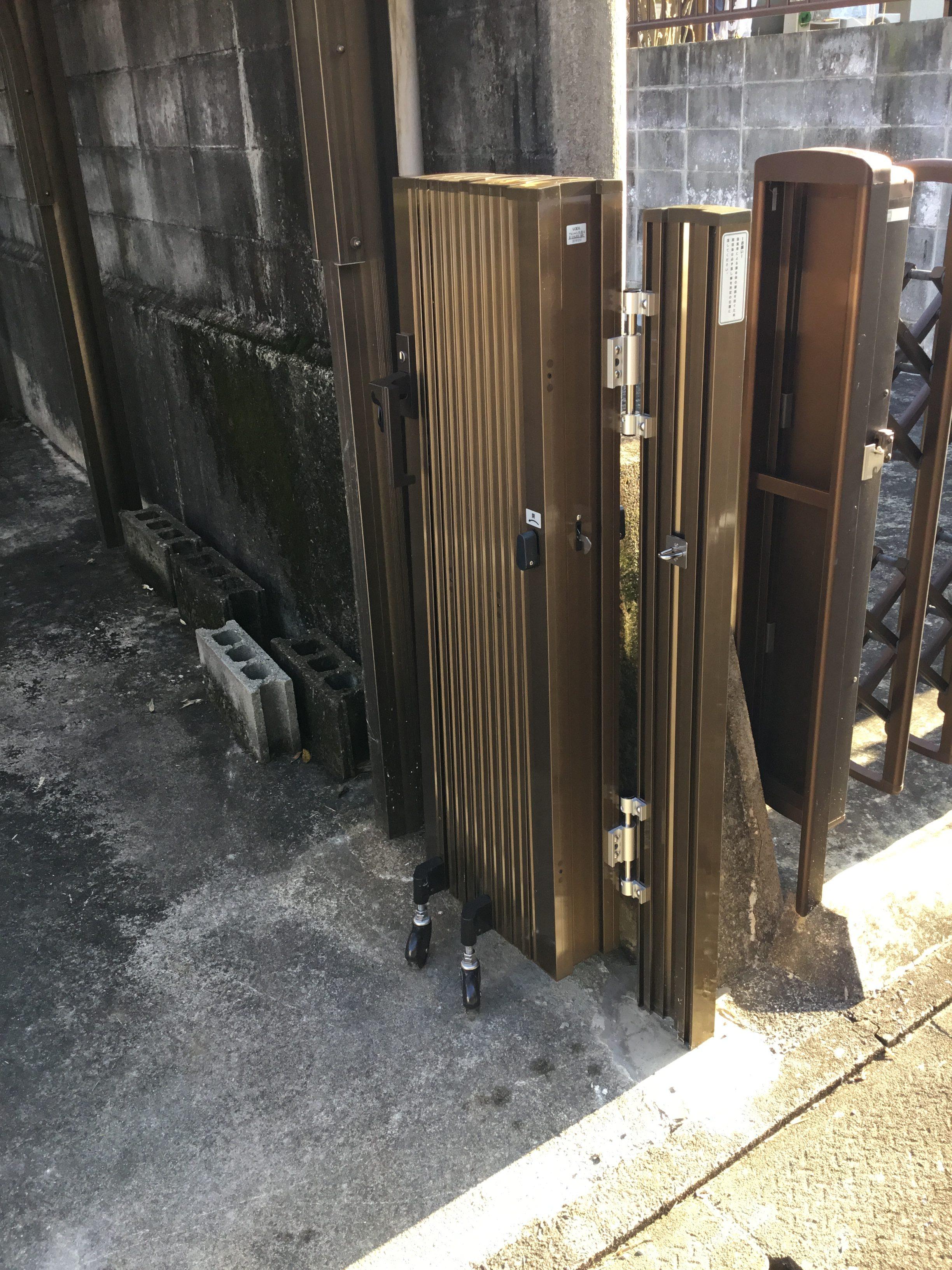 福岡トーヨー 大牟田店の門扉の施工後の写真1