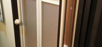 施工事例:浴室中折れドア取替え