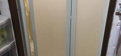 施工事例:浴室出入口ドア取替