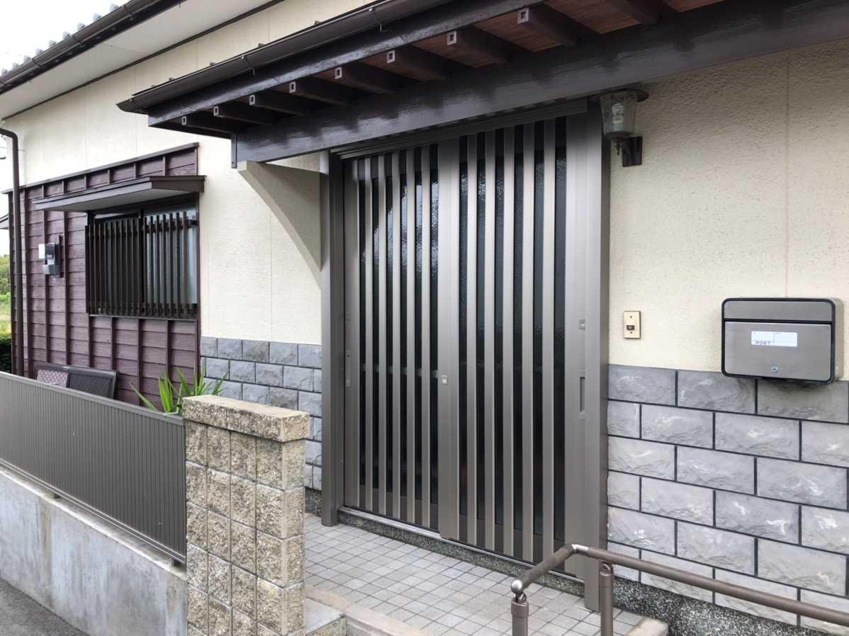 1dayリフォーム玄関引戸 福岡トーヨー 大牟田店の現場ブログ メイン写真