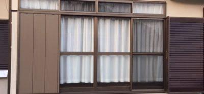 施工事例:台風対策 雨戸パネルの取替え