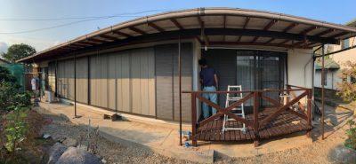 施工事例:台風対応 雨戸サッシ取替