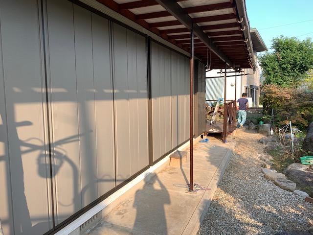 福岡トーヨー 大牟田店の台風対応 雨戸サッシ取替の施工後の写真1