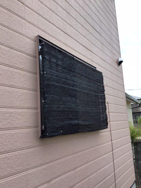 福岡トーヨー 大牟田店の台風対策の施工前の写真1
