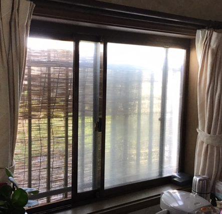 福岡トーヨー 大牟田店の台風対策の施工前の写真2