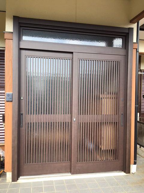 福岡トーヨー 大牟田店の玄関引戸を新しくの施工事例写真