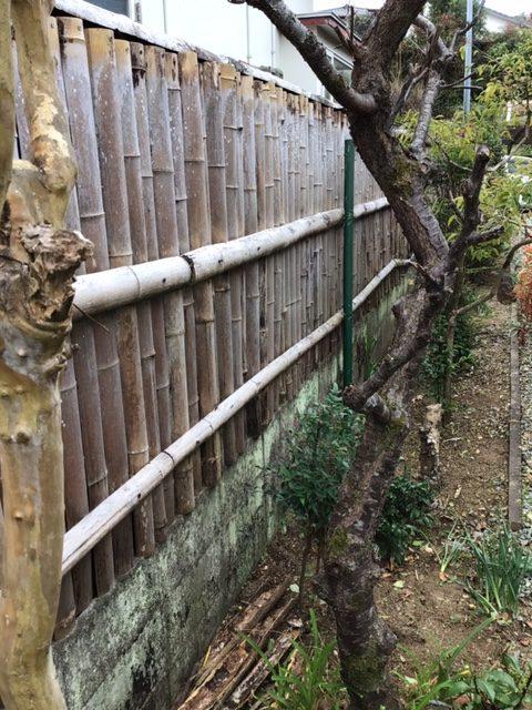 福岡トーヨー 大牟田店のフェンス設置の施工前の写真3