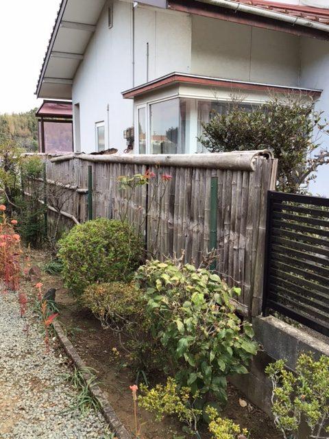 福岡トーヨー 大牟田店のフェンス設置の施工前の写真1