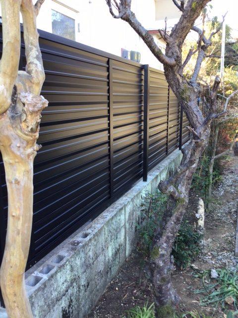 福岡トーヨー 大牟田店のフェンス設置の施工後の写真3
