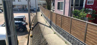 施工事例:目隠しフェンスと花粉症対策