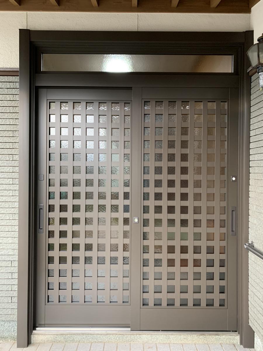 福岡トーヨー 大牟田店の1day リシェント玄関の施工事例写真