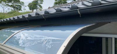施工事例:熱線吸収屋根 テラス スピーネ