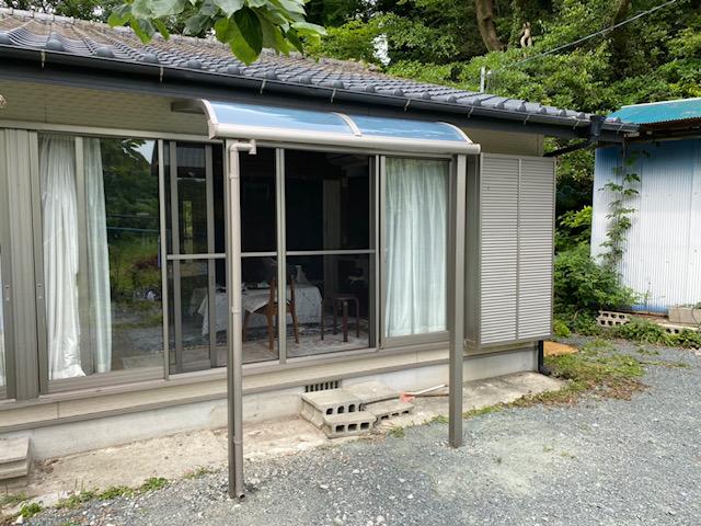 福岡トーヨー 大牟田店の熱線吸収屋根 テラス スピーネの施工事例写真